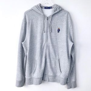 Men Polo Ralph Lauren Teddy Bear Zip Up Hoodie